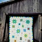Feathered Star bed quilt